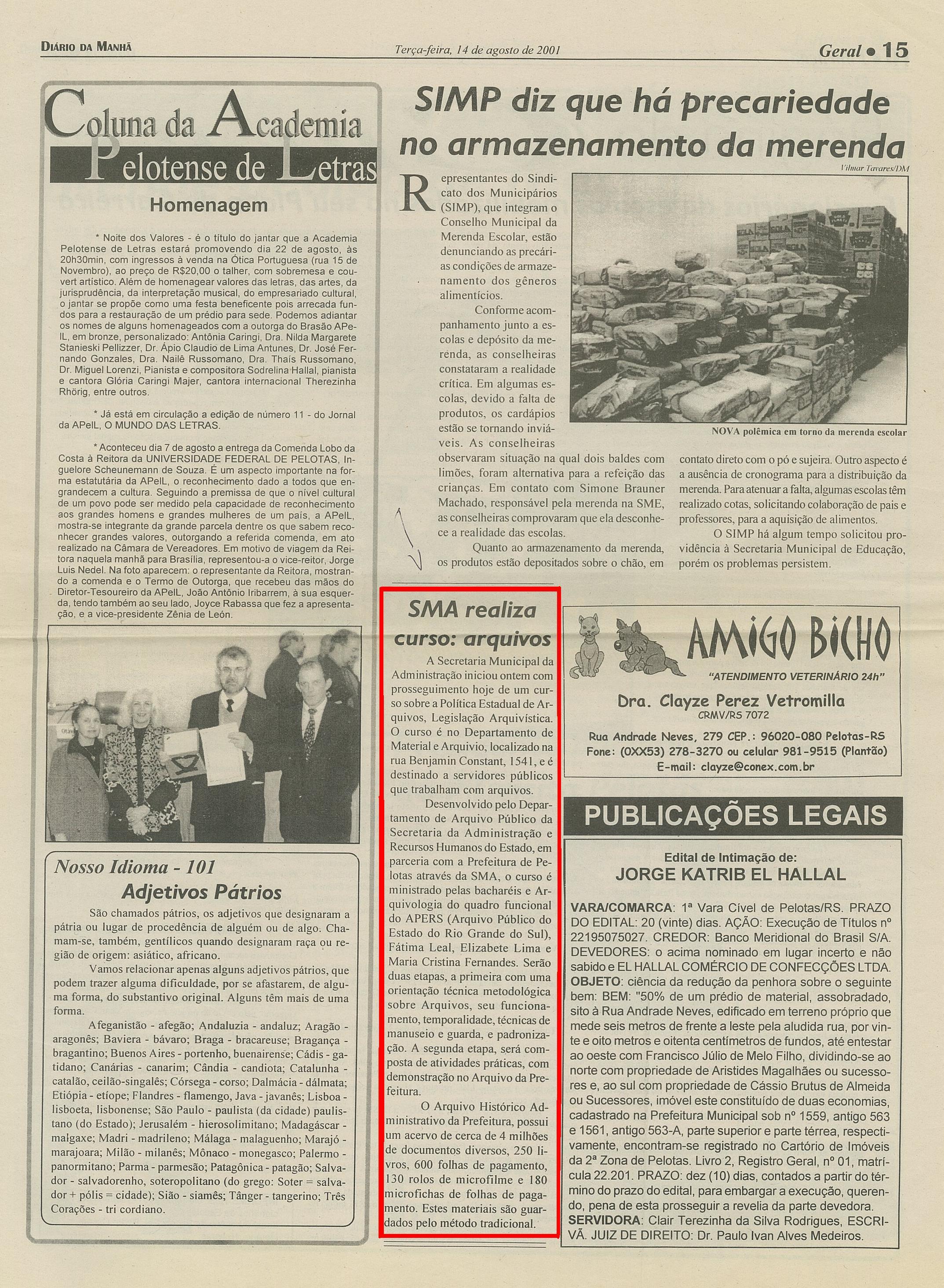 Jornal dos cursos e concursos