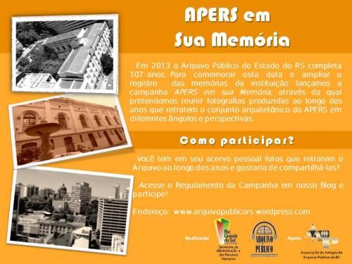 2012.01.02 Campanha APERS em sua Memoria - 107 anos APERS