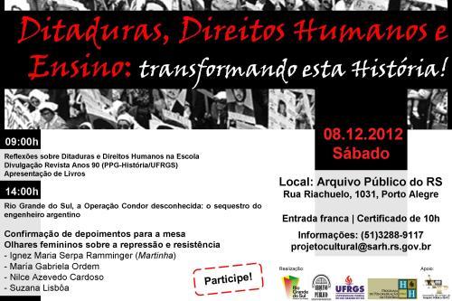 2012.12.05 Seminário Ditaduras, DH e Ensino Confirmação de Depoimentos