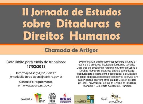 2012.12.26 II Jornada Ditaduras Chamada de Artigos
