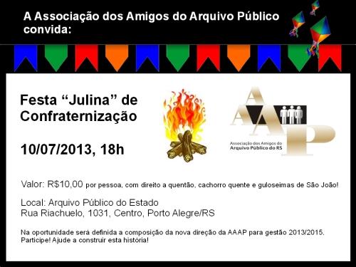 2013.06.26 Convite Festa Julina AAAP