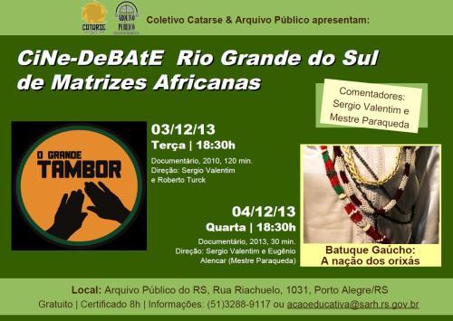 2013.11.27 Divulgação Cine Debate Afro blog