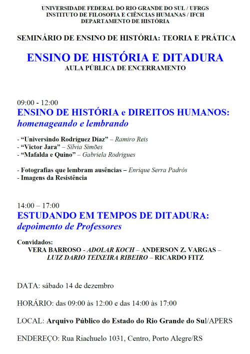 2013.12.11 Aula Pública História e Ditadura