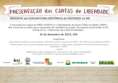 2013.12.11 Convite Lançamento Cartas Liberdade