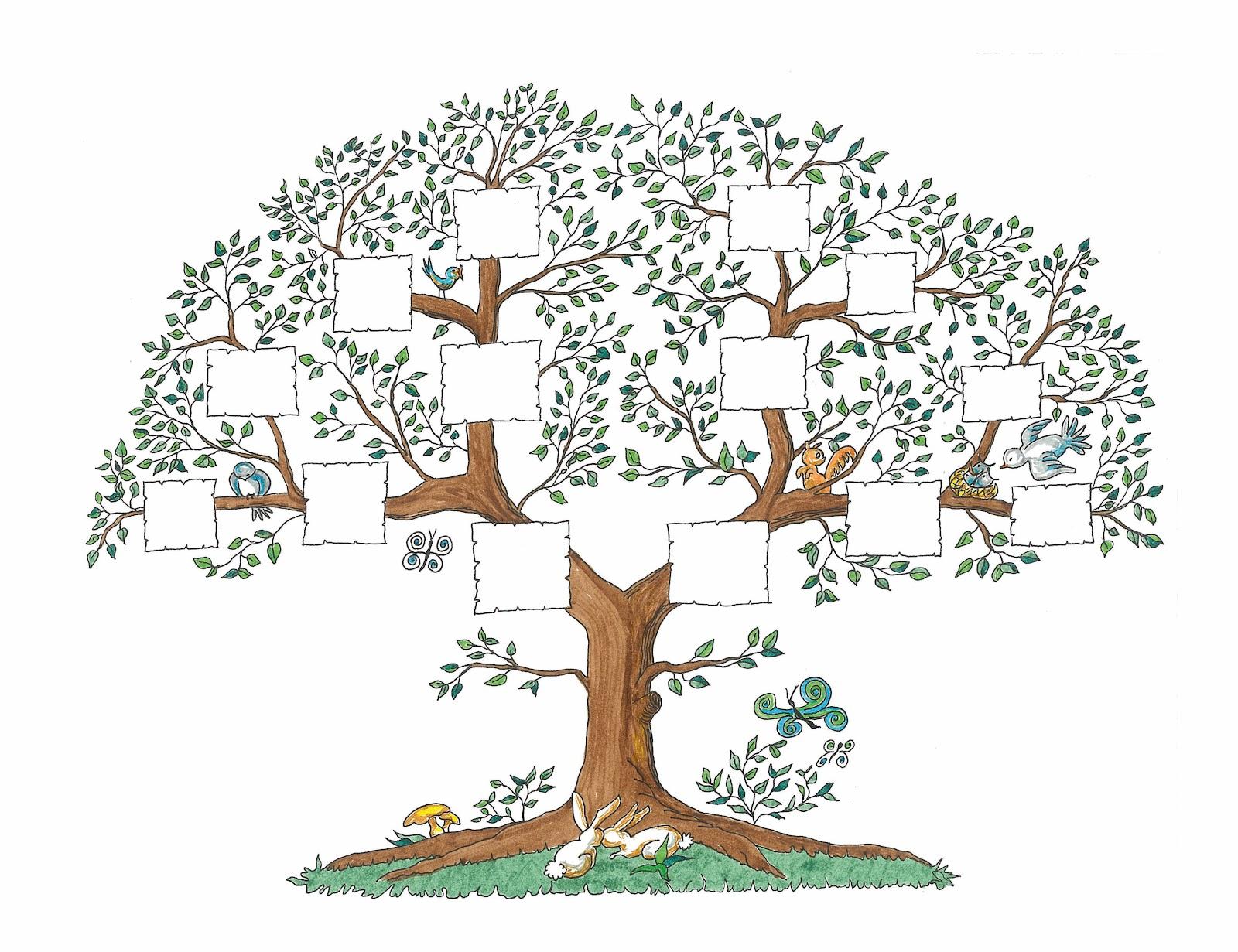 картинка родословное дерево пустое