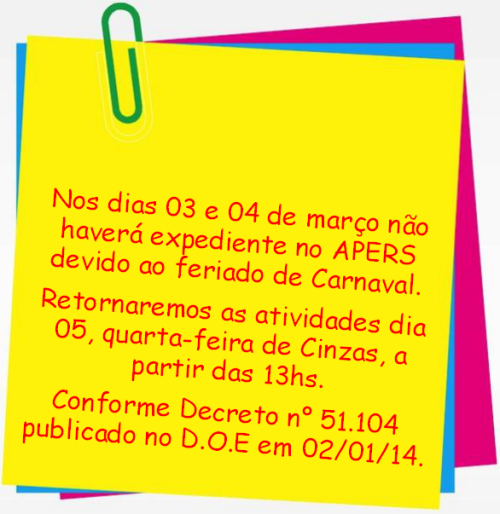 2014.02.26 Expediente do APERS no Carnaval