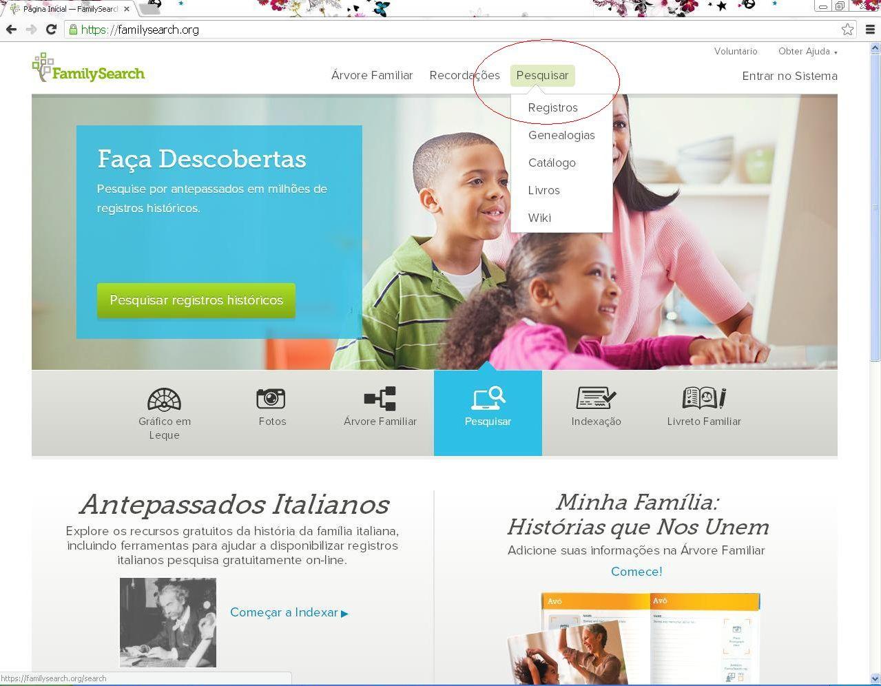 Arquivos & Genealogia: Como Pesquisar No Site FamilySearch
