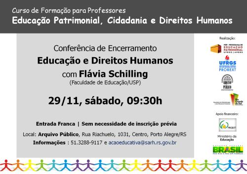 2014.11.26 Cartaz Conferência Flávia Schilling