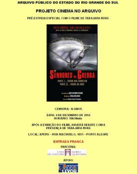 2014.12.03 Cartaz Cinema no Arquivo