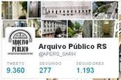 Totais tweets, seguidos e seguidores no perfil do Twitter