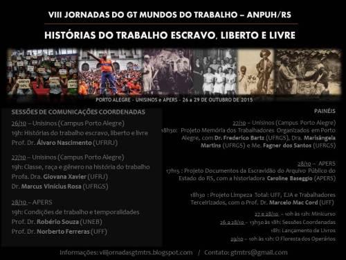 2015.10.21 Cartaz VIII Jornadas GT Mundos Trabalho