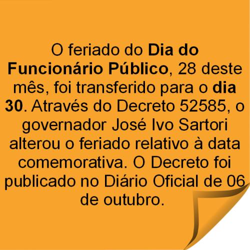 2015.10.21 Transferencia feriado Dia Funcionário Publico