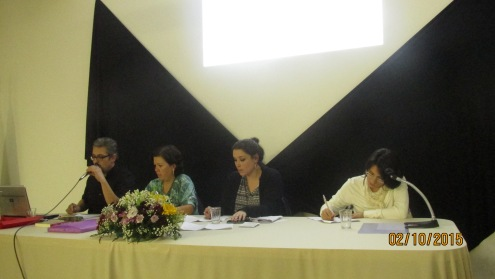 Jorge Fernández, Carla Luciana, Patricia Machado (mediadora) e Roberta Baggio
