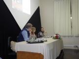 Mesa de debates na noite de 29/09.