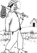 """Januário, liberto por não trabalhar, ora por estar doente, ora por estar """"agenciando donativos para a sua liberdade"""" (Alforria, Rincão de Santo Izidro, próximo a Itaqui, 1875)"""