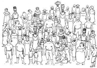 63 escravizados registrados em um único inventário, suscita discussões sobre os grandes plantéis, as diferentes origens, idades e profissões de cada escravizada(o) (Inventário de Bernardino José Flores, 1868, São Leopoldo)