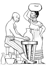 Aguedo, 17 anos, oleiro, e Maria, 20 anos, cozinheira, conhecidos através da Matrícula de Escravos de 1872 (Inventário de João Stoll, 1877, São Leopoldo)