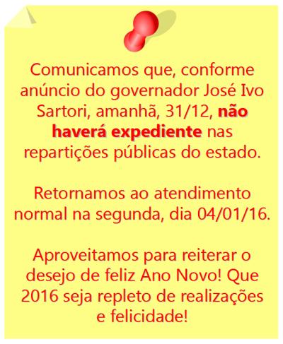2015.12.29 Ponto facultativo 31.12