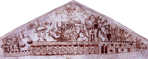 """Foto de capa da proposta """"A medieval mystery"""", construída a partir de um registro fiscal do ano de 1233."""