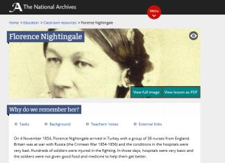 Atividades a partir da biografia de Florence Nightingale, importante enfermeira que atuou no fronte da Guerra da Criméia, em 1854, salvando vidas e construindo a valorização e o respeito à sua profissão.