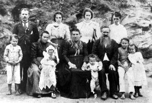 Registro de uma família de imigrantes