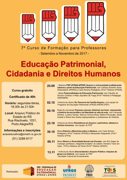 Cartaz Curso PEP Profs 2017