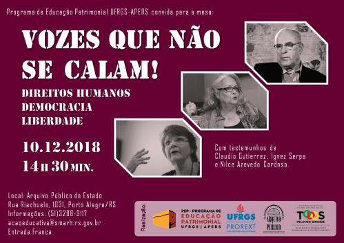 Cartaz Vozes que não se calam PEP 2018 final