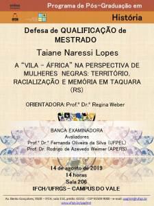 2019.08.22 Cartaz Banca Taiane Lopes