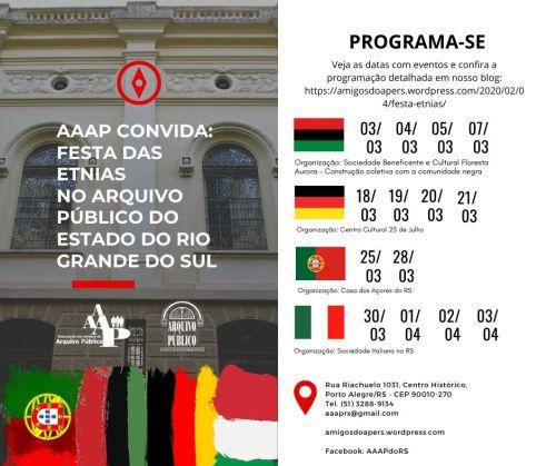Festas das Etinas - Redes Sociais